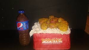 popeyes thanksgiving turkey popeyes chicken in a box and pepsi soda bottle cake cakes