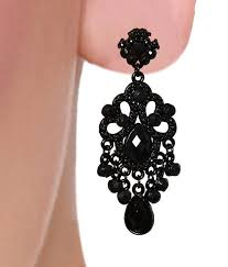 Chandelier Earrings India Black Chandelier Earrings Buy Black Chandelier