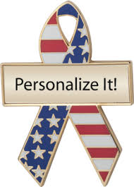custom awareness ribbons white and blue custom awareness ribbons lapel pins