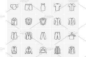 clothes for men sketch icon set illustrations creative market