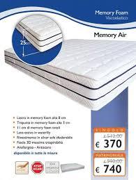 materasso memory silver materasso in memory foam alto 25 cm modello memory air il piu