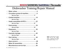 bosch shx33a repair manual