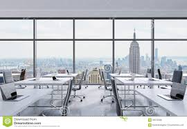 Office View by Workplaces In A Modern Panoramic Office New York City View From