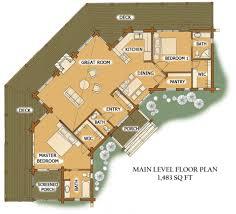 large log cabin floor plans uncategorized one level log home plan sensational within finest