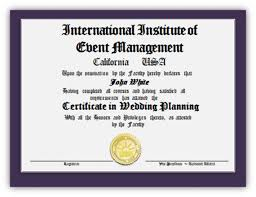 certificate in wedding planning 345 study online complete