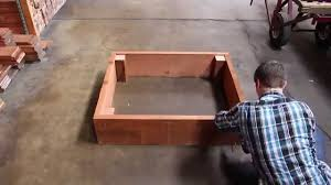 Building A Raised Vegetable Garden by How To Build A Redwood Raised Garden Bed Youtube