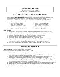 A Template For A Resume Click Here To Download This Hotel And Conference Centre Manager
