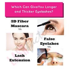 How Long Can You Wear False Eyelashes 3d Fiber Mascara Vs False Eyelashes Vs Lash Extension