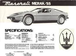 maserati merak engine merak advertisements