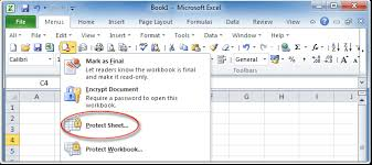 where is protect sheet command in excel 2007 2010 2013 and 2016