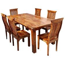 Solid Oak Dining Table Set Modern Rustic Solid Wood Dining Table Chair Set