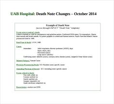 5 death note templates u2013 free sample example format download