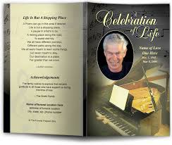 funeral program covers funeral bulletin template with or song theme