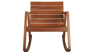 Red Rocking Chairs Valalta Outdoor Wooden Rocking Chair Cb2