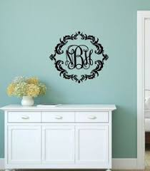 Monogram Wall Decals For Nursery Fancy Vine Monogram Wall Decal Monogram Wall Decal Fancy