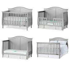 Convertible Cribs Oxford Baby 4in1 Convertible Crib Arctic Grey Ashbury