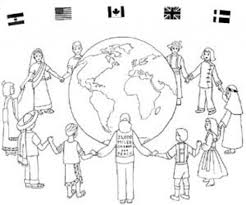 neat design around the world coloring pages multicultural kids