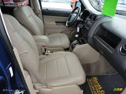 jeep interior lights light pebble beige mckinley leather interior 2009 jeep patriot