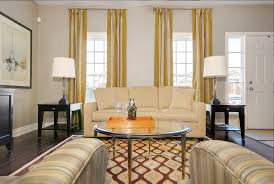 Yellow Striped Curtains Yellow Striped Curtains With Vanity Bathroom Midcentury And Wooden