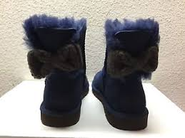 womens ugg boots bow ugg mini bailey knit bow navy boots usa 7 eu 38 uk 5 5