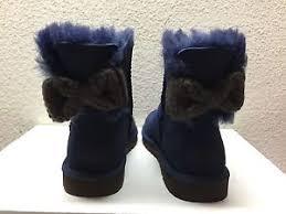 womens ugg boots usa ugg mini bailey knit bow navy boots usa 7 eu 38 uk 5 5