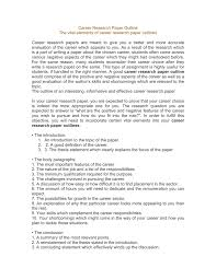 how to write research paper outline career research paper outline the vital elements of career