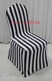 black and white chair covers 205 210gsm white black stripe print banquet spandex chair cover