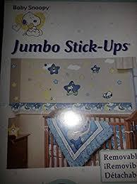 amazon com peanuts baby snoopy removable jumbo stick ups
