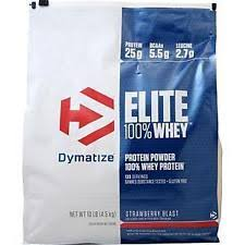 Dymatize Elite Whey 10 Lbs strawberry protein shakes bodybuilding supplements ebay