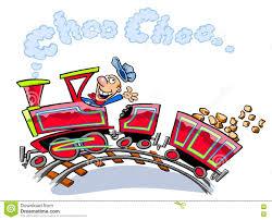 cartoon train on tracks stock illustration image 76896168
