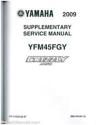 2003 2006 yamaha kodiak 450 4wd 2007 2014 grizzly 450 4wd service