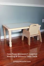 kitchen helper stool ikea ikea flisat children u0027s table hack for a montessori weaning table