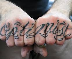 finger tattoos words collections
