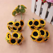 3cm mini artificial sunflowers bouquets fake silk sunflower for