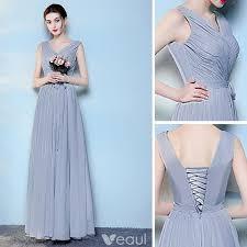 chic beautiful sky blue bridesmaid dresses 2017 a line