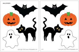 halloween characters printable templates u0026 coloring pages