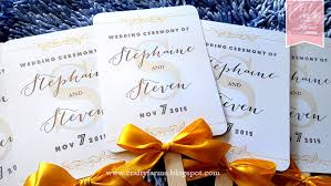 ceremony fans wedding card malaysia crafty farms handmade glam gold wedding