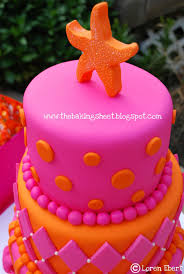 Tropical Theme Birthday Cake - tropical theme pink u0026 orange sweet 16 cake cakecentral com