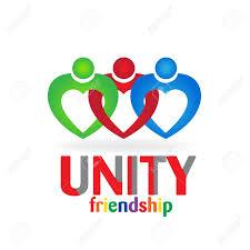friendship heart heart teamwork unity friendship business card icon
