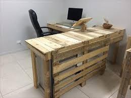 Diy Pallet Desk Diy Pallet Pair Of Trees Pallet Furniture