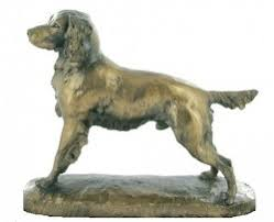 springer spaniel bronze sculpture david geenty