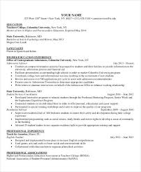 Spanish Teacher Resume Examples by Best Education Resume Templates 21 Free Word Pdf Documents