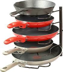 Cabinet Door Pot Lid Organizer Amazon Com Simplehouseware Kitchen Cabinet Pantry Pan And Pot Lid
