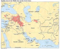 Maps Of Middle East by Middle East Map Of Kurdish Areas In The Middle East 1986