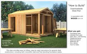 shed blueprints plan for building sheds