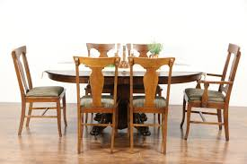 dining room table with leaves oak 1900 antique 42