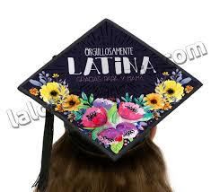 graduation cap toppers orgullosamente graduation cap topper card stock canvas