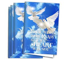 paper for funeral programs center fold funeral memorial paper your wings funeral program paper