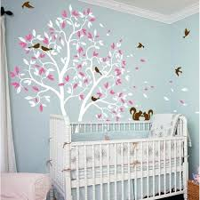 White Tree Wall Decal For Nursery Wall Decals For Rooms Play Room Vinyl Wall Decal Sticker Zoom