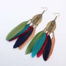 feather earrings nz pink blue feather earrings nz buy new pink blue feather earrings